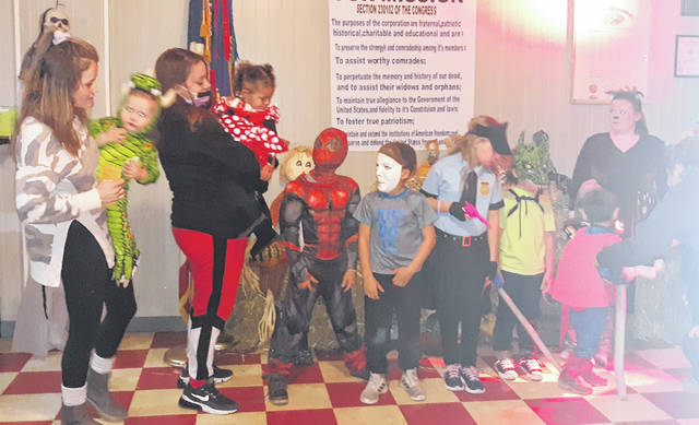 The VFW Post and Auxiliary hosted their Halloween party.