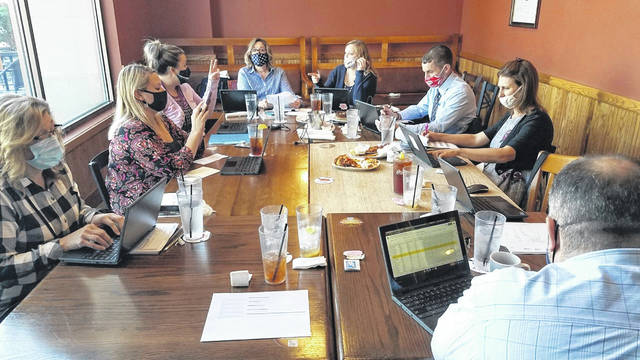 Blanchester School administrators hold a working luncheon on Monday reviewing parents' enrollment surveys for the second semester. Superintendent Dean Lynch indicated 116 students requested switching from virtual learning to in-person learning, and 38 requested to switch from in-person to virtual.