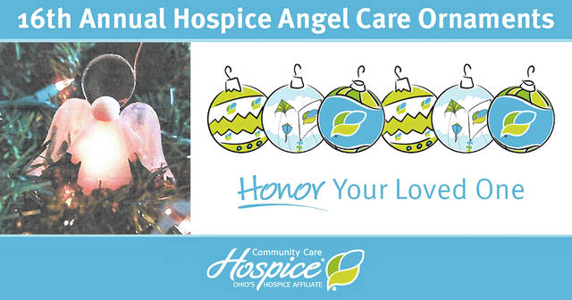 The hospice angel ornament is designed to honor a loved one. Orders must be received by Dec. 18.