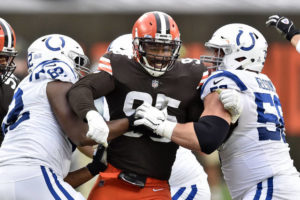 The Latest: Browns close facility, staffer tests positive