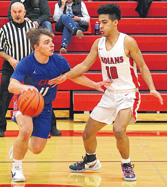 Hillsboro's Quintin Captain had 13 points in the Indians' 68-54 victory Tuesday over Clinton-Massie.