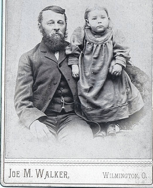 This circa 1888 image of Ruth Hadley (1887-1977) and her father James Hadley (1846-1917) portrays Ruth when she was very young. Ruth plays a key part in Christine Hadley Snyder's submission to the News Journal.