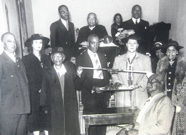 Members of Quinn A.M.E. Chapel celebrated their mortgage burning on Sept. 26, 1943. Can you tell us more? Share it at info@wnewsj.com. The photo, which was taken by Robert McNemar, is courtesy of the Clinton County Historical Society. Like this image? Reproduction copies of this photo are available by calling the History Center. For more info, visit www.clintoncountyhistory.org; follow them on Facebook @ClintonCountyHistory; or call 937-382-4684.