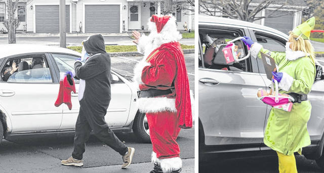 Santa and his helpers safely handed out gifts to local children and spread some holiday cheer at the Clinton County Head Start Program on North Nelson Avenue on Tuesday.