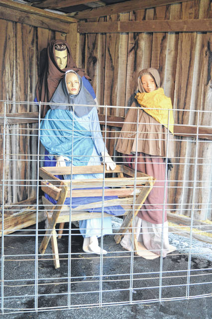 The Wilmington Church of Christ, on the 900 block of West Locust Street, is again having a live nativity scene on its front lawn. The stable and manikin figures were set up Tuesday, and a live donkey and sheep are expected any day to become part of the Bethlehem depiction, too. A church driveway goes right by the scene, so the annual tradition may be especially suited this year to a slow drive-by look, or to up-close visits by individual households.
