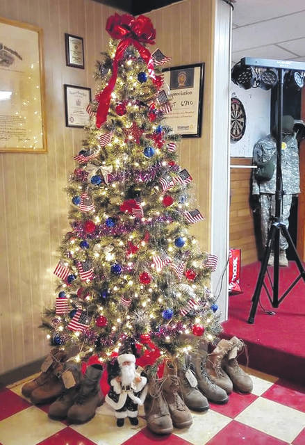 VFW Post 6710 in Wilmington shows its Christmas spirit as the inside of the facility is decorated for the holidays.