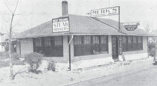 This is Merk's Restaurant, sometime before the late 1930s. Can you tell us more? Share it at info@wnewsj.com. The photo is courtesy of the Clinton County Historical Society. Like this image? Reproduction copies of this photo are available by calling the History Center. For more info, visit www.clintoncountyhistory.org; follow them on Facebook @ClintonCountyHistory; or call 937-382-4684.