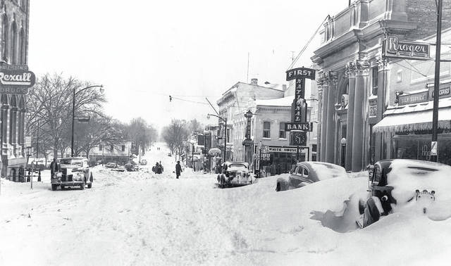 Looking on South on South Street Nov. 26, 1950 when 17 inches of snow fell within three days. Can you tell us more? Share it at info@wnewsj.com. The photo is courtesy of the Clinton County Historical Society. Like this image? Reproduction copies of this photo are available by calling the History Center. For more info, visit www.clintoncountyhistory.org; follow them on Facebook @ClintonCountyHistory; or call 937-382-4684.