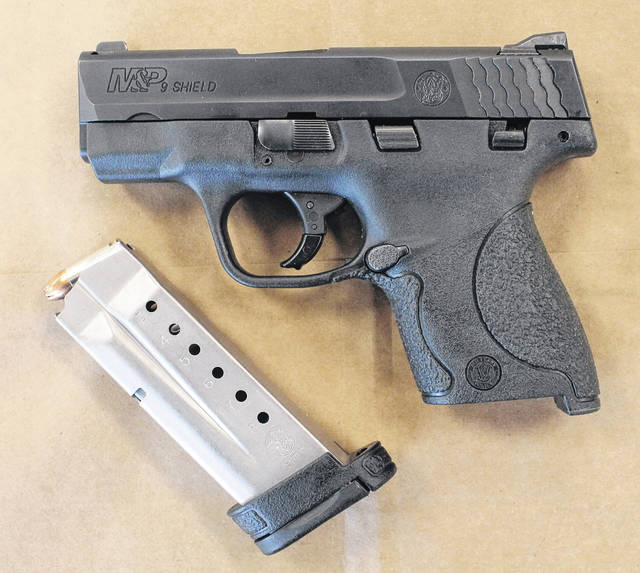 Police say this gun was in a student's locker.