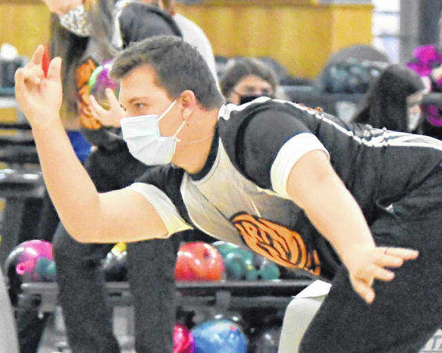 Jordan Tackett had the third 300 game in the last two seasons for the Wilmington High School boys bowling team this past Saturday in the Viking Classic at Poelking South lanes.