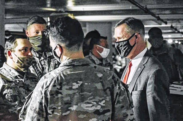 U.S. Rep. Steve Stivers with members of the Ohio National Guard.