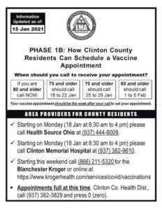 UPDATED: Information for scheduling local COVID-19 vaccinations