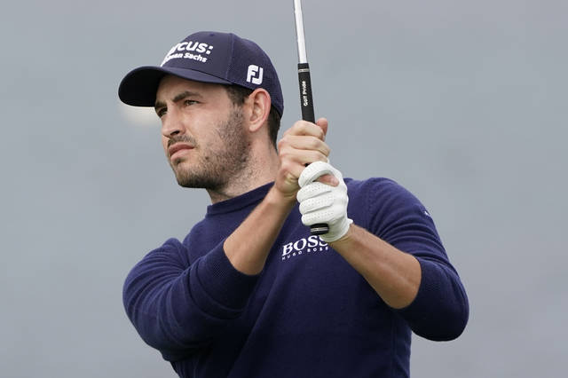 Patrick Cantlay follows his shot from the seventh tee of the Pebble Beach Golf Links during the first round of the AT&T Pebble Beach Pro-Am golf tournament, Thursday, Feb. 11, 2021, in Pebble Beach, Calif. (AP Photo/Eric Risberg)