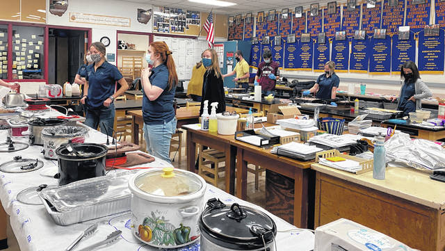 On Thursday the East Clinton FFA members made and served breakfast to school staff.