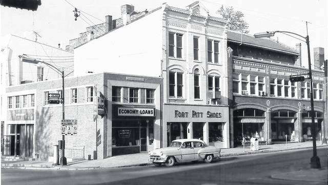 This undated photo is at the southwest corner of Main and South Streets in Wilmington. Can you tell us more? Share it at info@wnewsj.com. The photo is courtesy of the Clinton County Historical Society. Like this image? Reproduction copies of this photo are available by calling the History Center. For more info, visit www.clintoncountyhistory.org; follow them on Facebook @ClintonCountyHistory; or call 937-382-4684.