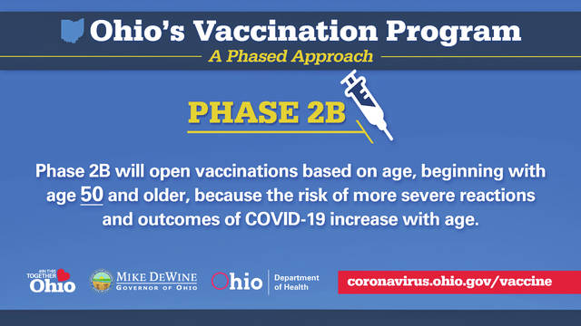 Residents age 50 and older become eligible for vaccination this Thursday.