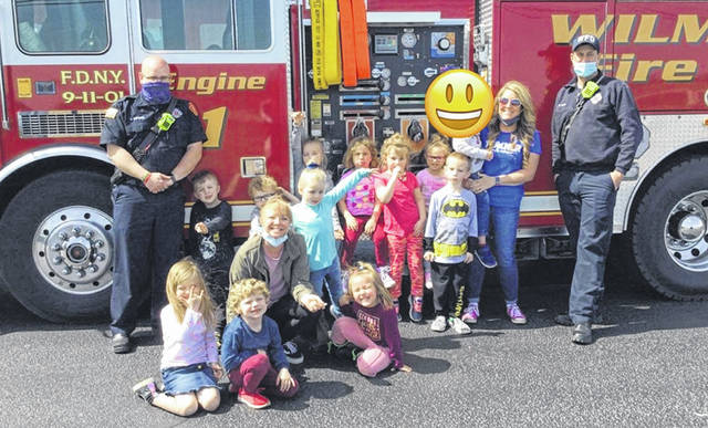 The Wilmington Fire Department recently visited children at the Clinton County Community Action Head Start Program, teaching them the importance of the fire department and fire safety.