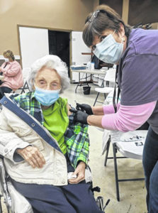 History in the making: 104-year-old receives COVID-19 vaccination; CCHD receives its first J&J vaccine