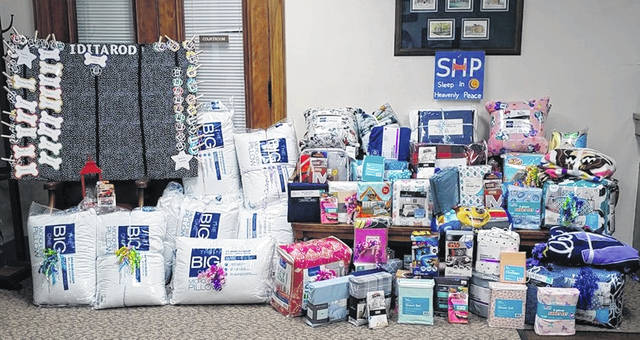 """Over 70 items were collected for """"Sleep in Heavenly Peace"""", including pillows, sheets, pillowcases, blankets, comforters and weighted blankets."""