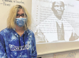 East Clinton freshmen display Black History Month projects