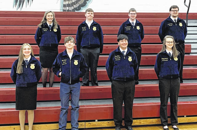 The Clinton-Massie Great Oaks FFA officers.
