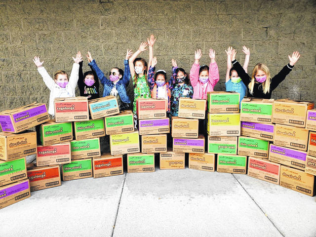 Local Girl Scout Troop 3166 finished up their cookie-selling season strong. They challenged businesses to buy a $60 case of cookies and then donate them to a charity. In total they sold 8,322 boxes and were able to ship donated boxes to the military overseas, the veterans centers, first responders, food pantry, and the homeless shelters. The girls had a busy season and they now closer to their goal of going to Disney World as a troop next year. They thank businesses that contributed to Cookies for a Cause including: Bush Auto, Houston HVAC, Sunoco in Clarksville, Honnerlaw Real Estate, Wilmington Auto Center, Bright Farms, Lebanon Electric, Middletown Electric, REM Printing Automotive, Kelly's Meat and Deli, Clinton Warren Joint Firefighters, Bob Wysong, Kibler Lumber, Musselman Motor Cars, Buckley Brothers, Superior Flooring, Clinton Becker, Loan Depot, Naylor's Furniture, Mulch America, LCNB National Bank, Roscoe's Pizza, Ziegler Insurance, Simpkins/Foley Insurance, Orchard Vet Care, American Family Insurance-Josh Edmisten Agency, Site Works, Bronson Doors, Baughman, Case Family, and Gerber Collision.