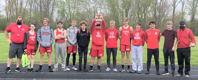 The East Clinton boys track and field team finished second Saturday in the Southeastern Invitational