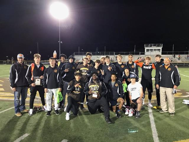 The first place Wilmington High School boys track and field team.