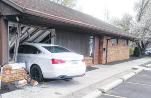 Story updated: Car crashes into office lobby