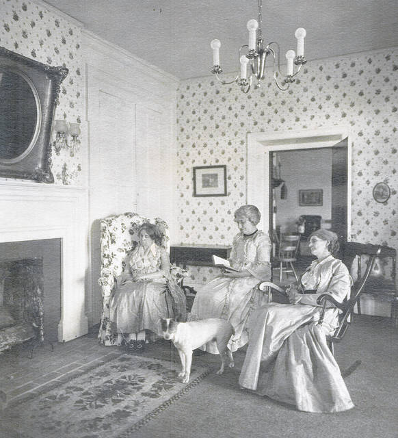 In this undated photo, at Snow Hill are, from left, Adda Hildebrant, Mrs. Jay reading, and Mrs. Penn from New Vienna. Can you tell us more? Share it at info@wnewsj.com. The photo is courtesy of the Clinton County Historical Society. Like this image? Reproduction copies of this photo are available by calling the History Center. For more info, visit www.clintoncountyhistory.org; follow them on Facebook @ClintonCountyHistory; or call 937-382-4684.