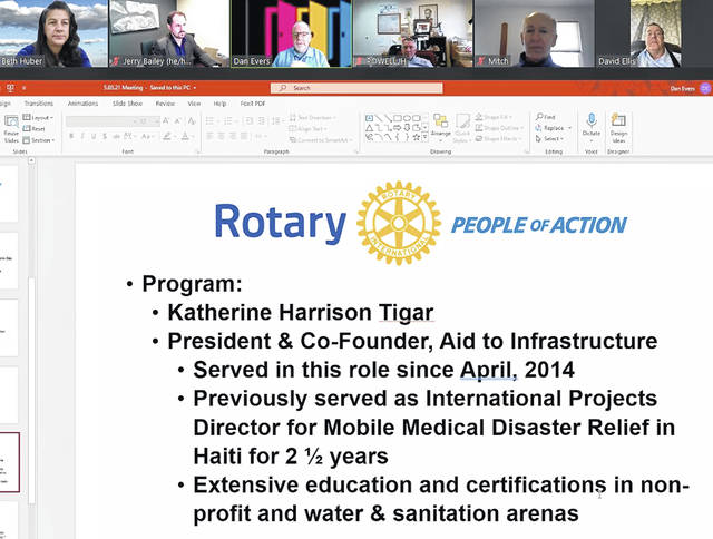 Wilmington Rotary met virtually and learned from Rotarian Katherine Harrison-Tigar about the aid for residents of Haiti