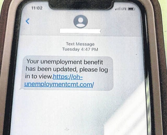 The Clinton County Sheriff's Office advises that several local residents have received the message pictured. They have spoken with Ohio Department of Job and Family Services, which said this is <em>not</em> a legitimate notification.