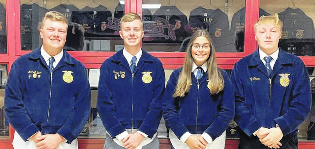From left are Mitchell Bean, Carter Carey, Maggie Mathews and Cody Chaney.