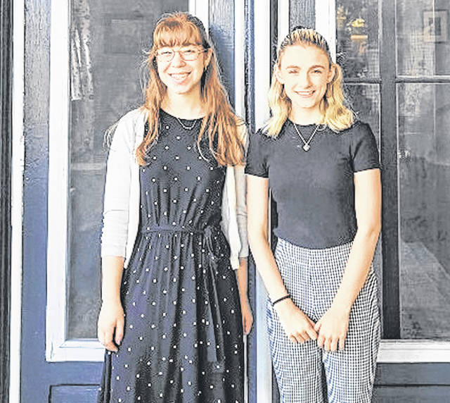 The 2021 Clinton County Fellows Emily Brausch, left, and Sophia Agee.