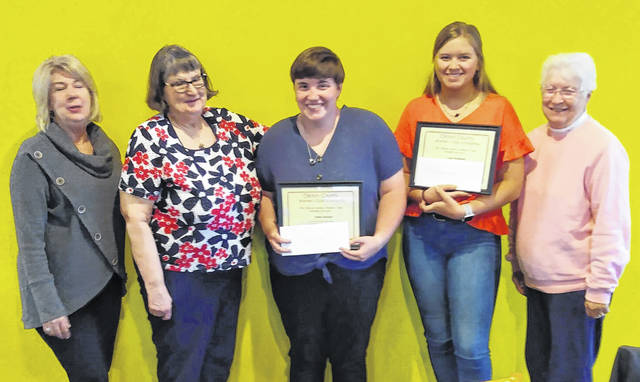 From left are Patti Cook, Mary Camp, Ashlen Jackman, Casey Kingsland and Thelma Ledford.