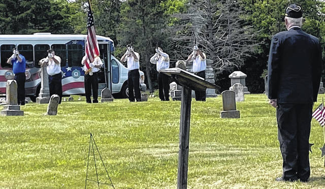 Westboro Cemetery held a Memorial Day service with Blanchester American Legion Veterans Post 179.