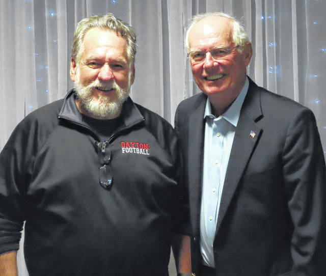John Limbert, then-Board Chair of the Clinton County Port Authority, and Kevin Carver, Executive Director of the Port Authority from 2010-2015.