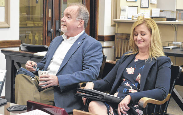 From left are Clinton County Port Authority Executive Director Dan Evers and Clinton County Economic Development Director Jennifer Ekey.