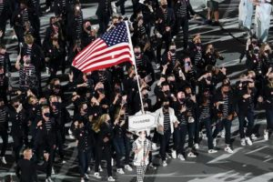 The Latest: US athletes enter the Tokyo opening ceremony