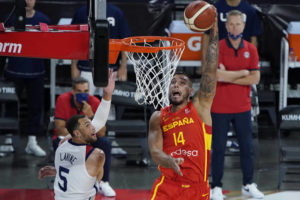 US players learning differences between Olympic hoops, NBA