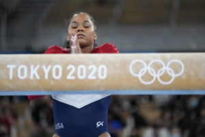The Latest: Russians win gymnastics gold after Biles exit