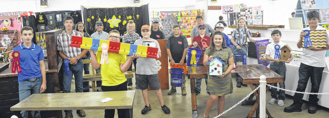 Pictured are participants in Woodworking at the 2021 Clinton County Fair, Making the Cut, Junior, ages 8-13.