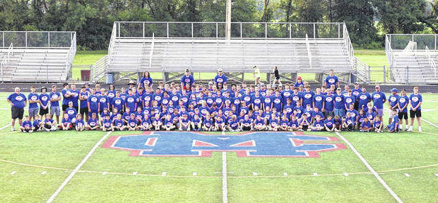 Clinton-Massie held its youth football camp this past week as over 100 youths participated in the camp from grades three through eight.