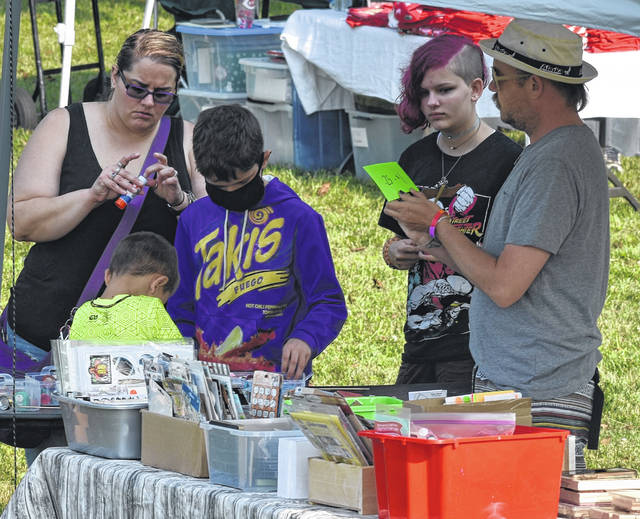 Locals enjoyed shopping, craft making, and each other's company at the Galvin Park community sale in Wilmington on Saturday. The event was sponsored by the nonprofit Friends of Galvin Park.