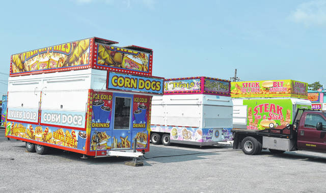 The fair food will be fired up and fried up soon as vendors begin arriving.