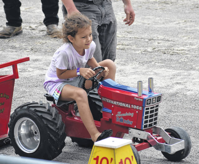 While the Clinton County Fair truck and tractor pulls were canceled due to the rainstorms, on and around the track still saw plenty of activity on Saturday — the final day of the 2021 fair — especially with the Kiddie Tractor Pull.