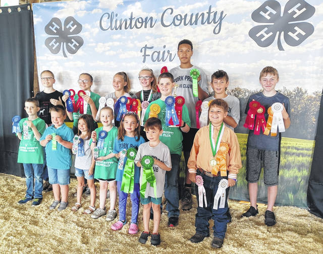 The Pork Pride 4-H Club did well at the Clinton County Fair.Shown are: back row, Gregary Achtermann, Kai Alexander, Taylor Garringer, Mikala Hatfield, Tony Wilens-Mabry, Ebon Louderback, and Ben Alexander; middle row, Stanley Chesney; and front row, Isaac Chesney, Braydon Throckmorton, Ashlynn Ewing, Leah Chesney, Harper and Jacob Furnish, and Donovan Dalton. Not shown are Madison Bronner and Jami Dailey.
