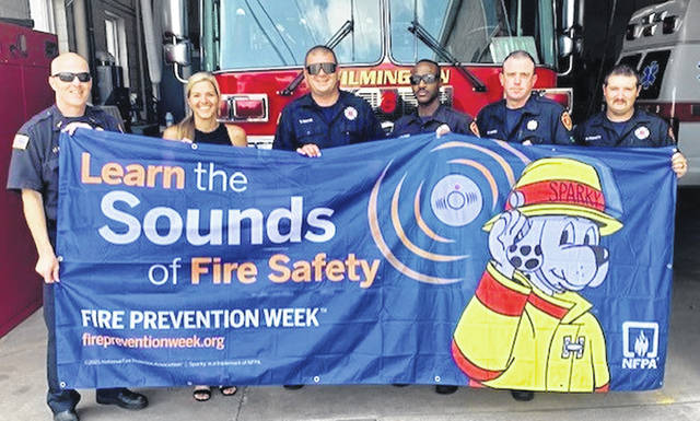 State Farm Agent Carrie Zeigler and Wilmington Fire Department encourages residents to embrace the 2021 Fire Prevention Week theme. State Farm agents in Ohio delivered fire prevention kits to their local fire department.