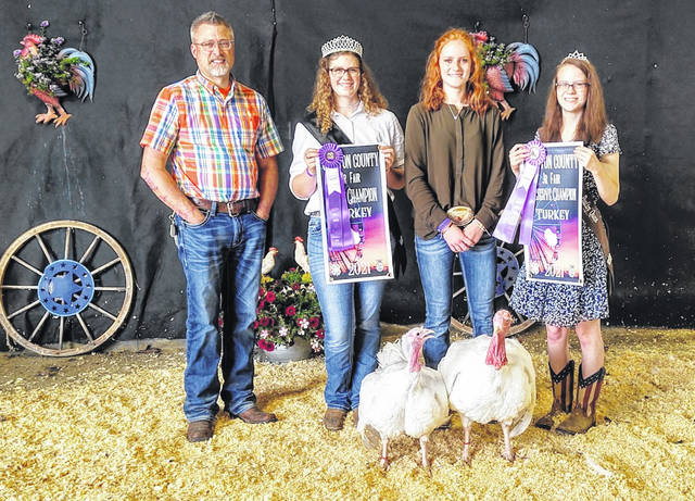 Jozie Jones won the Grand Champion and Reserve Grand Champion Overall for Market Turkey at the 2021 Clinton County Fair.