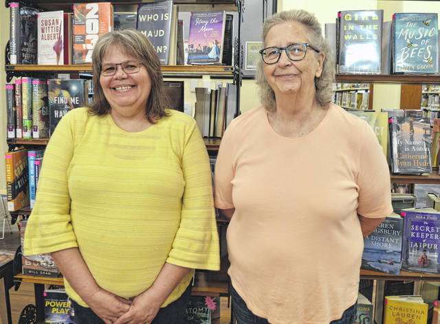 From left after many years of service at the Wilmington Public Library, Sherri Clark and Brenda Drake have retired.